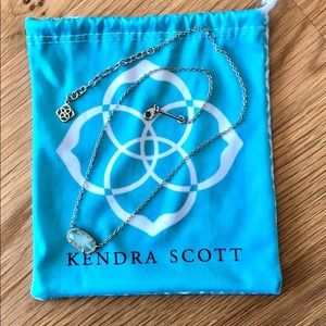 kendra scott elisa necklace gold with chalcedony